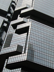 Lippo Centre I & II up close (Lil [Kristen Elsby]) Tags: glass topv2222 architecture hongkong topf50 asia mirrors getty lippo lippocentre gettyimages paulrudolph gettyimagesonflickr