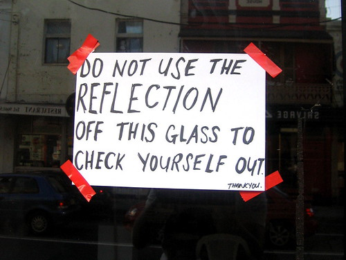 No checking yourself out! / Daniel Boud