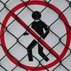 squaredcircle_nogo (nospuds) Tags: squaredcircle sign fence no go nogo trespassing notrespassing