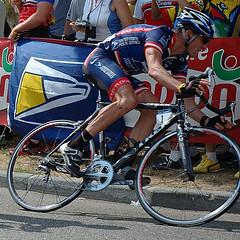 Lance Armstrong cornering