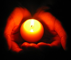 our prayers (fubuki) Tags: tsunami tragedy hands prayer light candle hope viewed topf25 interesting