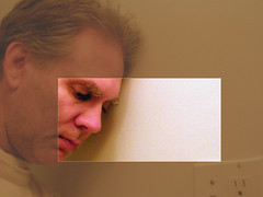 Playing With Picasa #2 (O Caritas) Tags: portrait people selfportrait reflection me yellow self reflections mirror faces picasa ocaritas 2004bypatricktpowerallrightsreserved