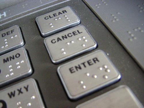 ATM keypad 3/4