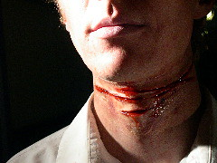 debut (Lorien!) Tags: hollywood movies film gore gash slash blood neck throat strangle ghost haunt prosthetic makeup