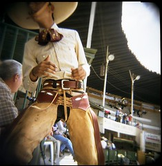Charreada-Closeup (dogseat) Tags: leather mexico holga perfect hand guadalajara crotch rodeo chaps charreada flickys conceptscreativity
