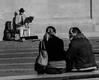 (C-47) Tags: people bw blackwhite music instrument player discussing composition street life scene scène vie shadow erhu