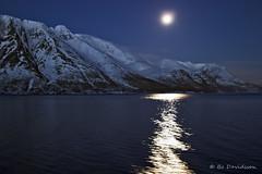 Full moon in north Norway (Bozze) Tags: sea moon mountain snow norway naturesfinest wwwoppnahorisonterse wwwopenhorizonsfinearteu