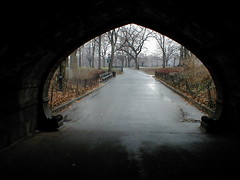 Archway in Central Park (Penningtron) Tags: park nyc newyorkcity winter ny newyork path centralpark creativecommons archway interestingness28 i500
