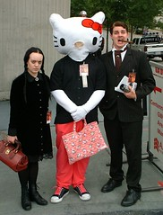 Hello Kitty with the Addams Family (Krakitt) Tags: hello family costumes atlanta black wednesday fun costume hilarious funny dragon adams cosplay hellokitty humor kitty cigar con gomez dragoncon addams adamsfamily