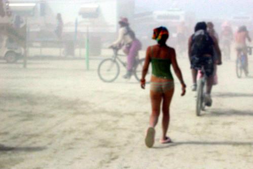 burningman 2004 girl underwear dust