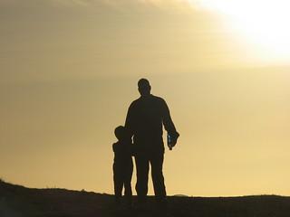 Father - son walk
