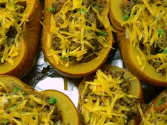 Pumpkins stuffed with Mushrooms Sage and Cheese