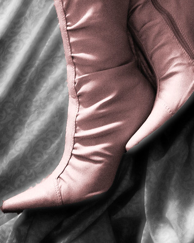 chase chasevii pink boots sheet cutout shoes