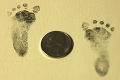 day 78: little feat (snowdeal) Tags: baby feet foot nickel odin ericiv day78