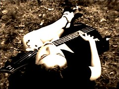 Goth Girl (Special) Tags: unfound girl woman guitar pose gothgirl portrait 25 crapcam