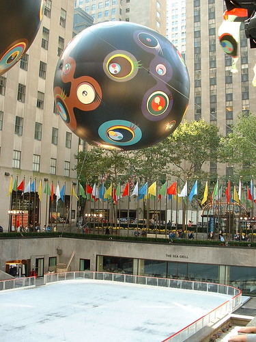 Balloons over Rockefeller Center