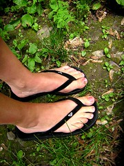 roxy (Nika) Tags: shoes green sandals flipflops