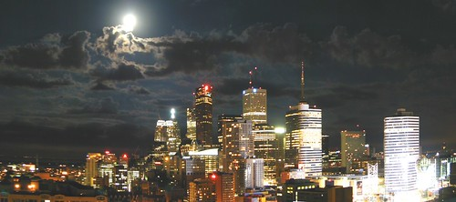 skyProject ~ moonlit toronto by striatic