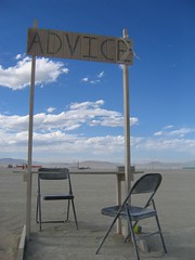 """advice"" booth"
