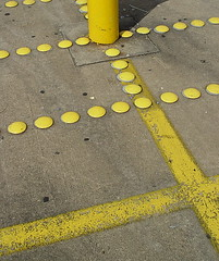 segmentation in yellow (zen) Tags: lines yellow concrete pavement parking dots 20030926 zensutherland