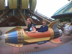 Mum and Ali enjoy a rocket ride