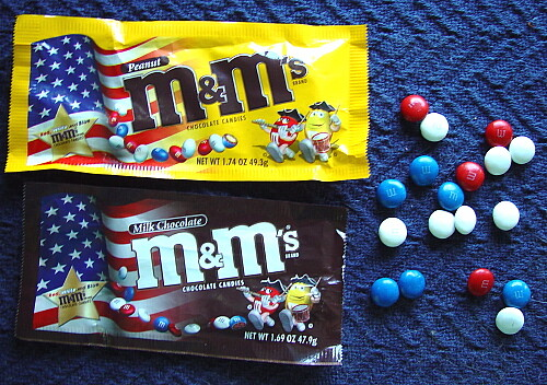 patriotic m&ms by zen from Flickr