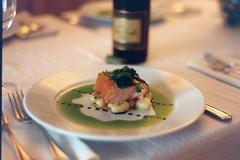 warm smoked salmon with potato gnocchi & chive oil (ilmungo) Tags: food cooking frenchlaundry