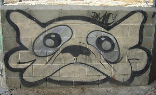 bcn graffiti, dmc dog