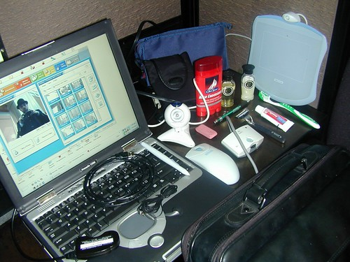 Digital nomad's packing items