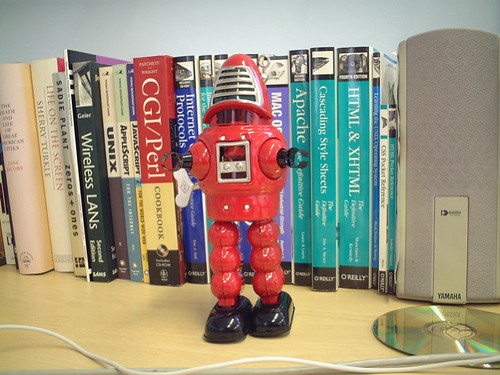 Robots guard my books
