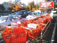 Target Carts (soldierant) Tags: shoppingcarts retail red target cameraphone treo600 cartcorrals