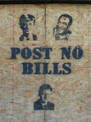 POST NO BILLS {notes} (striatic) Tags: street toronto ontario canada graffiti photo funny notes outdoor gates clinton unfound shirtdesign postnobills billclinton billgates cosby billcosby mygoodimages