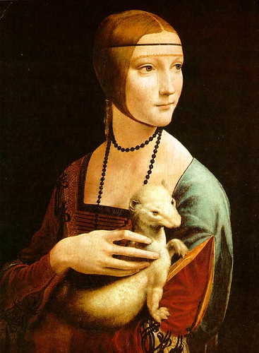 Leonardo Da Vinci - Lady with ermine by AstroAlbert.