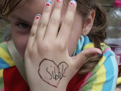 071 (handkasteel) Tags: kids children hands hand drawing tattoos marker pens tc28closeup