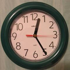 Squared Circle Green Clock