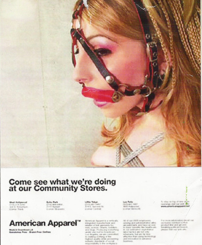 American Apparel Spoof Flier