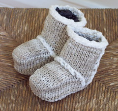 ugg booties (hitbyabus) Tags: mini uggs knittied baby booties 2005 fos