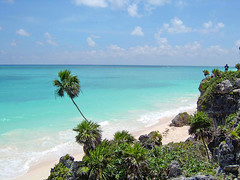 The beautiful waters off of Tulum, Mexico by asawaa