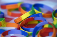 pride wrist bands (Komal Soin) Tags: philadelphia colors proud rainbow band favorites gaypride wristband soin equalityforum komal dilomay05 pridefest