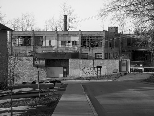 The Old Gun Factory - another view -bw