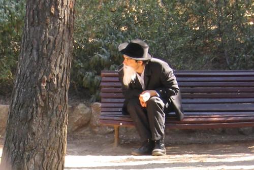 White beard man, Parc Güell, Barcelona