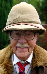 Grandad and the pith helmet (rbanks) Tags: grandad bournemouth war clothes pith helmet favoritesof2005