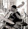 musician bass (Leo Reynolds) Tags: holiday neworleans louisiana bass usa bw people musician leol30random titanhitour2005 titanhitour groupbw c770uz 0005sec f32 iso64 296mm 0ev grouputata xcheckratiox xleol30x hpexif xx2005xx olympus