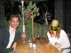 Smoking the hookah with some Egyptian guy I picked up at the bazaar