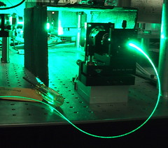 Argon-ion laser launches into fiber - by fatllama