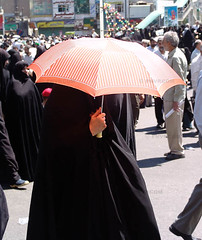 Stay in shadow (pooyan) Tags: news 2004 iran hijab demonstration tehran   pnvpcom pooyantabatabaei peopleinthenews againstusa