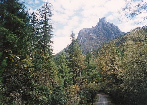 black limestone peak