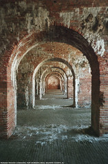 fort morgan (Dystopos) Tags: fortmorgan brick arch passage perspective baldwincounty alabama 36542 olympusxa