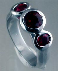 Caroline's Engagement Ring (davesag) Tags: engagementring ring ruby rubies gold whitegold lyppens