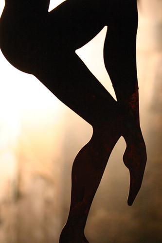 ...barefoot